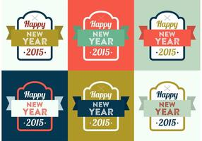 Fundo de vetores do ano novo