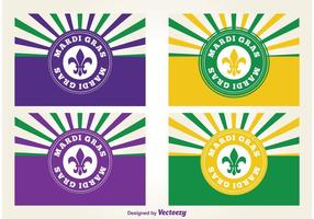 Mardi Gras Labels vector