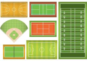 Sports Fields And Courts vector