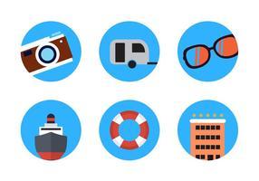 Vecteurs d'icônes de voyage d'été