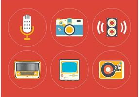 Vintage Icon Vector Set