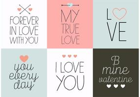 Valentinsgruß-Tageskarten-Vektoren