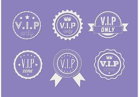 Set Vip Icon Vectors