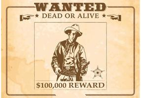 Free-vector-wanted-old-poster