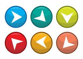 Próximos passos botões de seta vetores