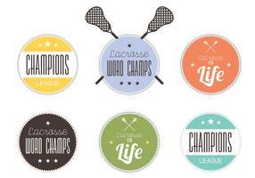 Lacrosse Etikett Set