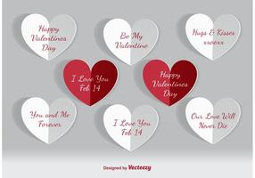 Valentines Day Paper Hearts vector