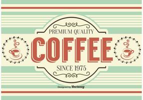 Retro Style Coffee Background / Label
