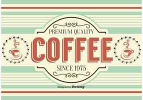 Retro stijl koffie achtergrond / label