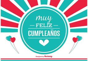 Spanish Birthday Card Free Vector Art