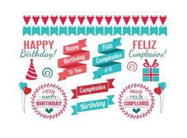 Elementos de design do aniversário vetor
