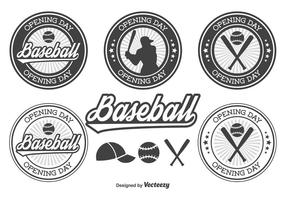 Baseball opening dag badges