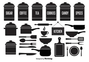 Kitchen Element Vector Set
