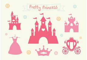Roze Prinses Kasteel Vector Set