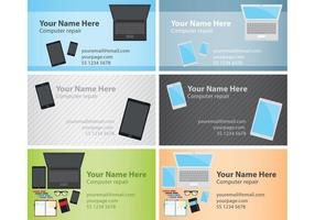 Computer Visiting Card Templates  vector