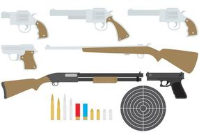 Färgglada vapenvektorer