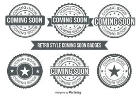 Coming Soon Badges vector