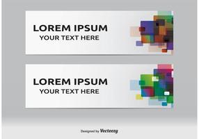 Moderne Webbanners