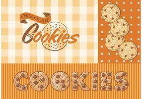 Vector biscotti al cioccolato