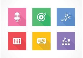 Kostenlose Flat Music Vector Icons