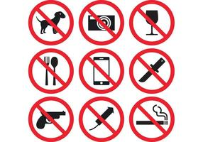 Vecteurs de signe de prohibition
