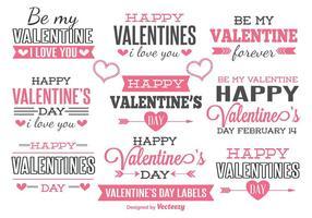 Valentinstag Etiketten