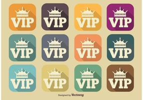 VIP Long Shadow Icons