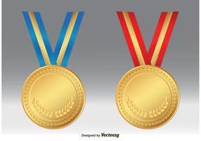 Vetores da medalha de ouro