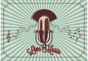 Vector libre del micrófono de la vendimia