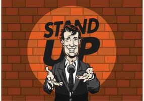 Vector Stand Up Comedian