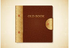 Old Book Leather Cover Vector