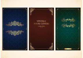 Libre de vectores cubre libros antiguos