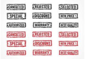 Gratis Vector Grunge Rubber Postzegels