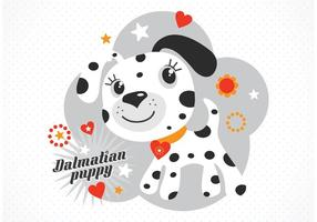 Gratis Vector Cartoon Dalmatische Puppy