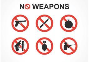 Nessun segno di vettore di armi