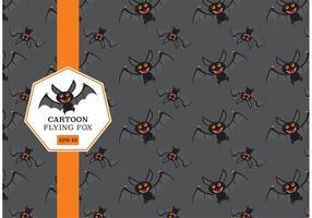 Free Cartoon Flying Fox Vector Pattern