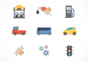 Free Car Services Vector Icons