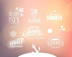 Vetores do tempo de verão