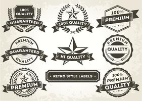 Retro Style Promotional Etiketter / märken
