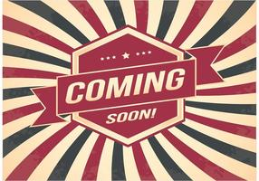 Coming Soon Retro Style Background vector