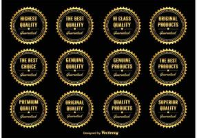 Gold Promotional Badges