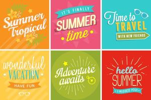 Summer Time Signs vector