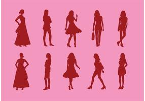 Silhouette-of-girls-vectors