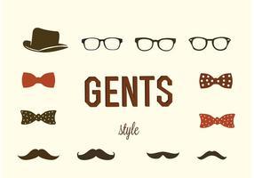 Hipster gentlemen vektorer