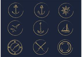 Gratis Vector Nautische Icon Set