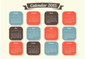 Calendario 2015 Vector