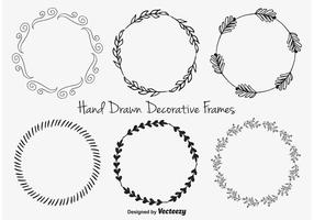 Hand Drawn Decorative frames vector