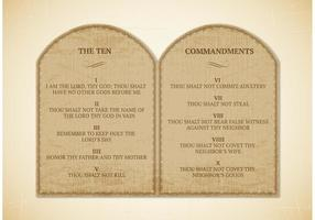 Livre 10 Commandments Vector