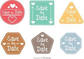 Speichern Sie die Date Shapes Vector Pack