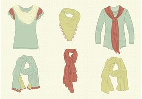 Gratis Vector Drawn Neck Scarves